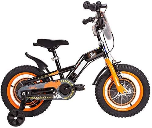 YSA キッズバイク12/14/16/18インチ、高炭素鋼の子供用自転車補助輪付き2-9歳の男の子と女の子へのギフト