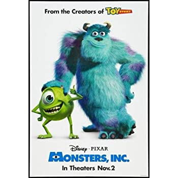 Amazon.com: Monsters Inc Movie Poster #01 24x36in: Prints ...