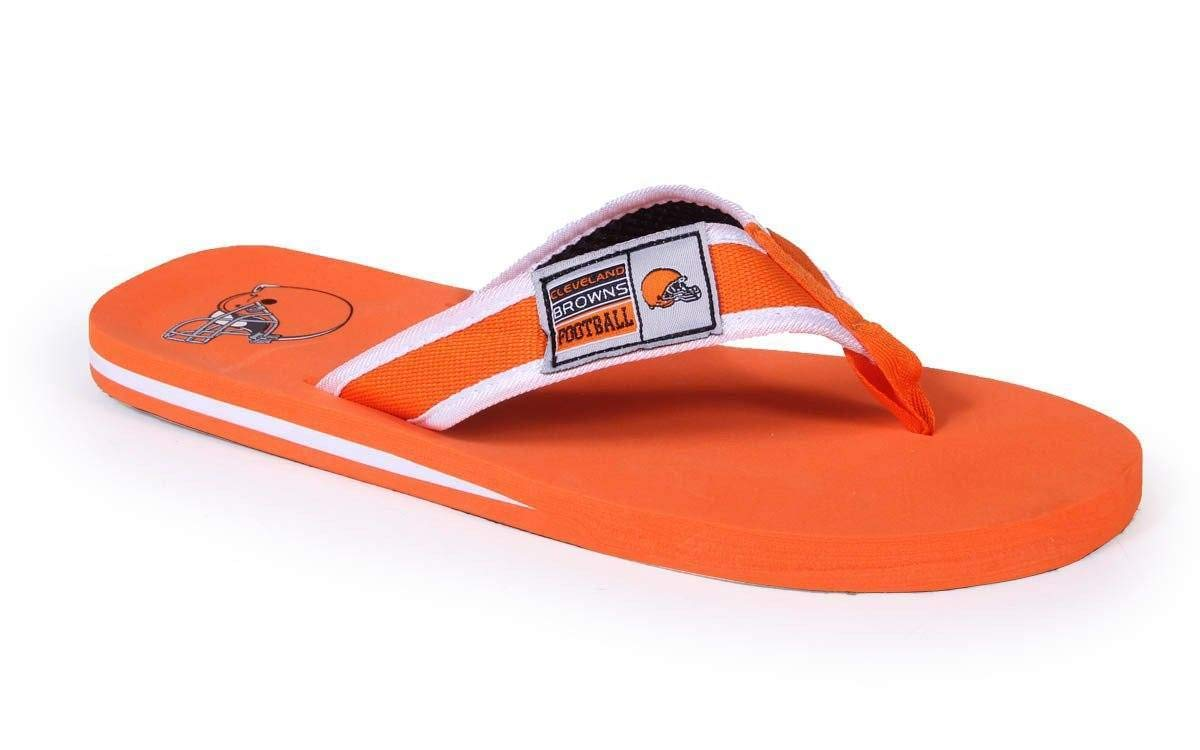 2098748d0284d Officially Licensed NFL Contour Flip Flops - Happy Feet and Comfy ...