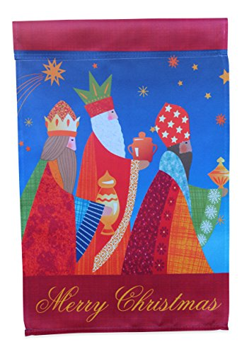 Nativity Garden Flag Winter Yard Decoration; Three Wise Men