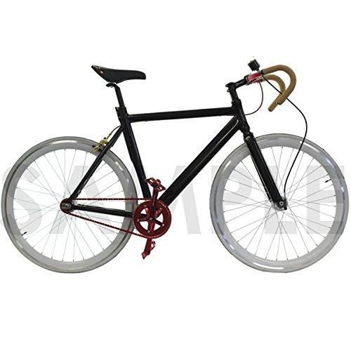 Venzo Track Fixie Road Bike Frame with Fork Black 56cm by Venzo (Image #4)