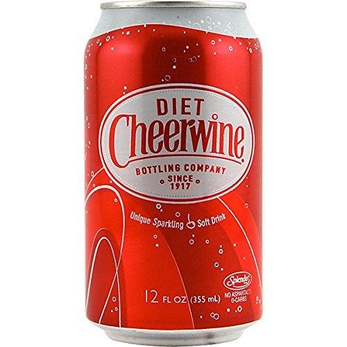 Cheerwine Diet Cherry Soda Soft Drink  12 Oz  12 Pack