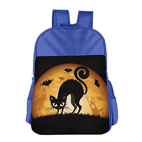 Halloween Cat Children School Bag