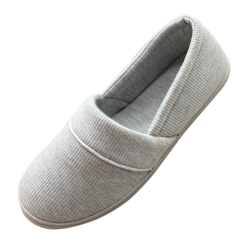 MagiDeal Zapatillas de Casa de Algod/ón Suave Lavables Antideslizantepara Sala de Estar Dormitorio EU 37-40