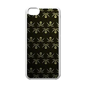 Gold Pattern ZLB566169 Personalized Case for Iphone 5C, Iphone 5C Case