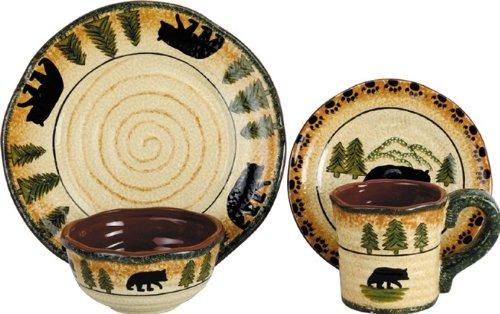 - HiEnd Accents Bear Lodge Dinnerware Set