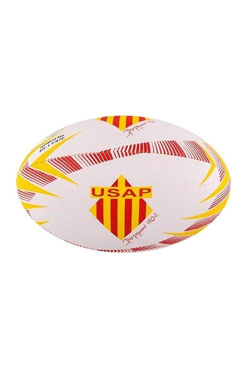GILBERT Ballon de rugby SUPPORTER - Perpignan - Taille 5: Amazon ...
