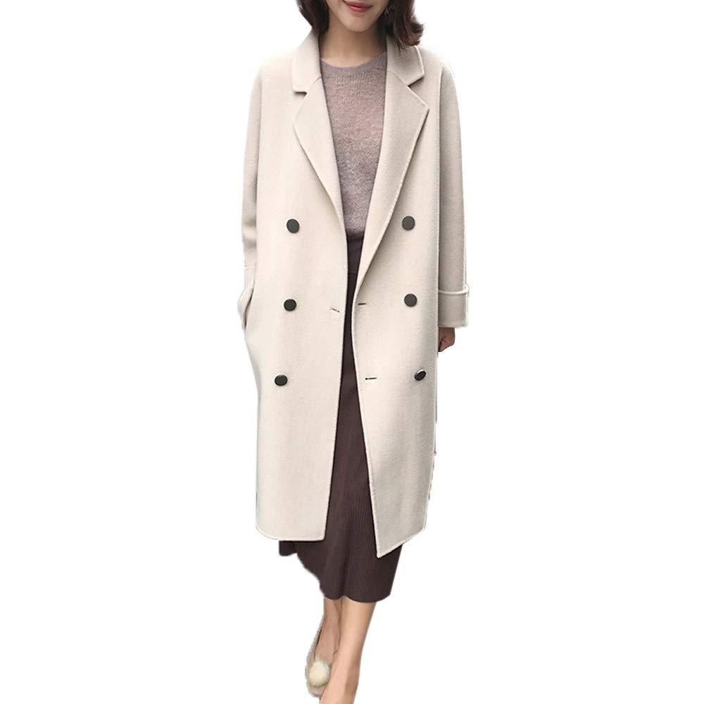 ... Mediano y Largo, Chaqueta de Abrigo para Mujer Botón Casual Outwear Parka Cardigan Slim Abrigo Largo: Amazon.es: Ropa y accesorios