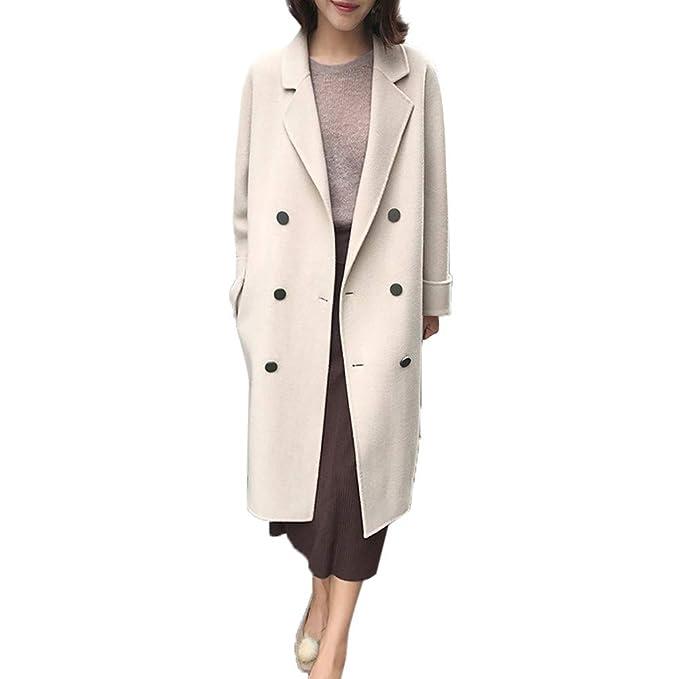 Linlink Gran promoción Abrigo de Las señoras Caliente Mujeres Caliente Chaqueta Casual botón Outwear Chaqueta Cardigan Abrigo Slim Outcoat: Amazon.es: Ropa ...