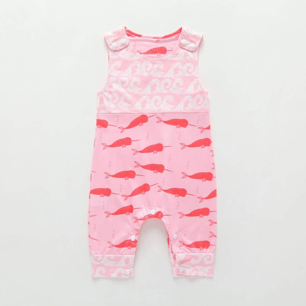 Vovotrade Newborn Kids Vest Romper Baby Boys Cartoon Animal Print Romper Jumpsuits Clothes Summer