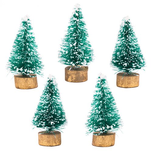 baker ross mini christmas trees pack of 8 for christmas crafts and decorations