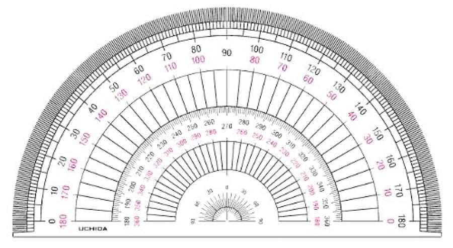 欲しいです急いで惑星ドラパス 半円分度器 アクリル製 18cm 16505