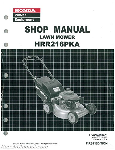 Honda HRR216 PKA Lawn Mower Service Repair Shop Manual