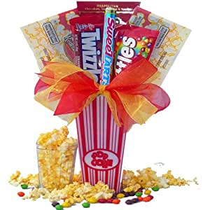Art of Appreciation Gift Baskets Concession Stand Popcorn and Candy Gift Set