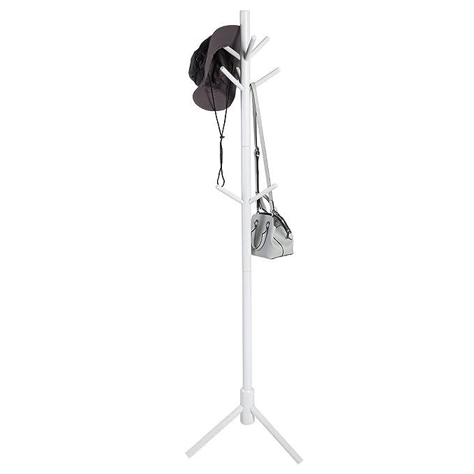 EBTOOLS Perchero pie 9 Ganchos Soporte para Abrigo Chaquetas Sombreros Perchero de Madera (para Entrada Pasillo Dormitorio Escritorio Altura de 176 cm