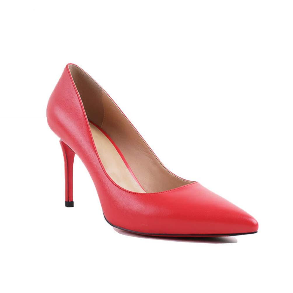 Frauen Pumpen High Heels Schuhe Lady sexy Spitzen Spitzen Spitzen Zehen Hochzeitsschuhe handgemachte Schaffell Schuhe dd1cdc