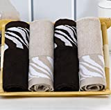 Bamboo Adult Washcloths (4-Pack,13.3 x 13.3 inches) Soft washcloths face,Towels, Organic, Hypoallergenic, Easy