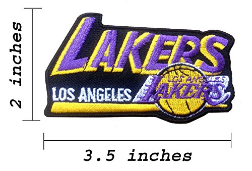 Los Angeles Lakers Logo Team Embroidered Iron On Patch.