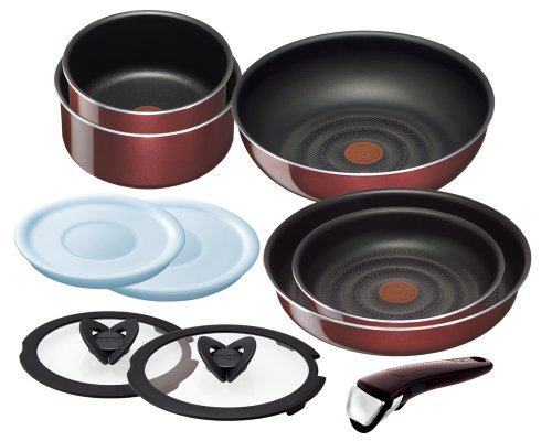 t-fal-pan-frying-pan-set-noble-red-set-10-taking-ingenio-neo-handle-l46790