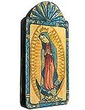 Modern Artisans Our Lady Guadalupe Handmade Patron Saint Retablo Plaque, 3.5 x 7.25 Inches