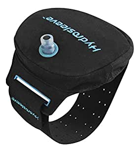 Hydrosleeve Package - Armband Hydration System for Runners and Athletes - Black/Blue (Small)
