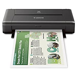 Canon Pixma IP 110 W/Battery Single Function Inkjet Printer (Black)