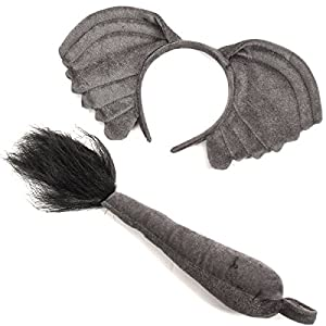 Funny Party Hats Elephant Ears and Tail - Elephant Costume - Ears and Tail Set - Headband Ears