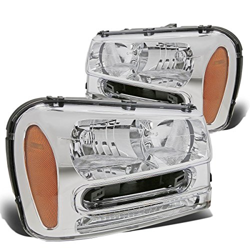 DNA MOTORING HL-OH-TRA02-CH-AM Headlight Assembly, Driver...