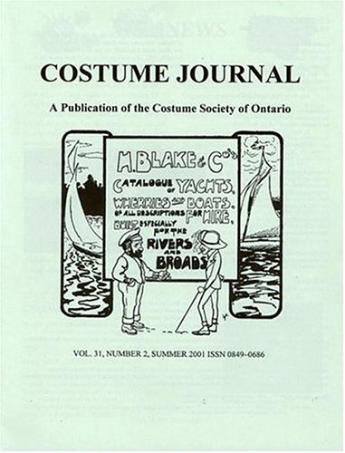 Costume Journal : a Publication of the Costume Society of -