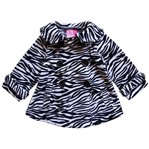 Good Lad Toddler Girl Zebra Print Double Breasted Fleece for sale  Delivered anywhere in USA