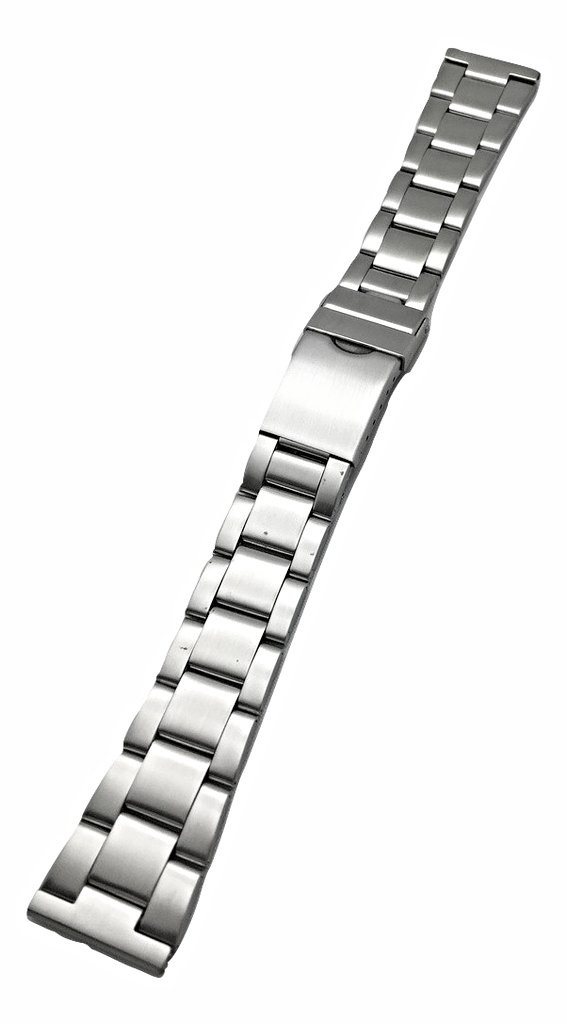 20mm Metal Stainless Steel Watch Band by NewLife | Men's Women's Silver Tone Watch Bracelet Replacement Wrist Strap Bracelet with Clasp that brings New Life to Any Watch