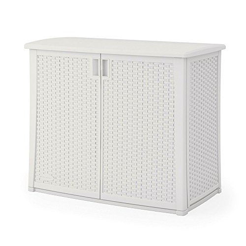 Outdoor Storage Cabinet With Adjustable Shelf Wicker Patio XL Box Container  For Gardening Tools Patio Cushions