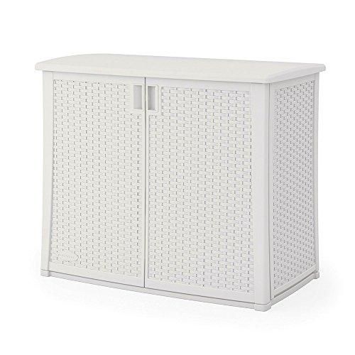Outdoor Storage Cabinet with Adjustable Shelf Wicker Patio XL Box Container for Gardening Tools Patio Cushions Deck Balcony Garden Backyard 97 gallon Capacity Multi-wall Panels & eBook by BADA (Balcony Storage Box)