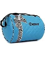 Girls Dance Duffle Bag with Zebra Print Bow