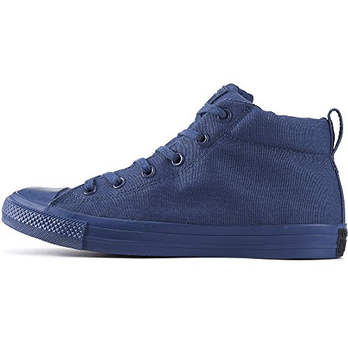 Converse Chuck Taylor All Star Street Mid-top Navy/Navy Unisex Sneakers (6.5 B(M) US Women / 4.5 D(M) US Men) (Sneakers Womes)
