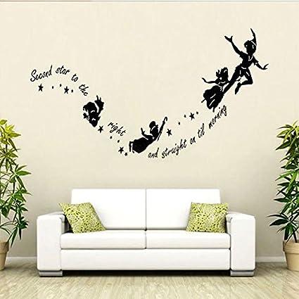 Adesivi Murali Peter Pan.Peter Pan Wall Stickers Decal Kids Room Nursery Mural