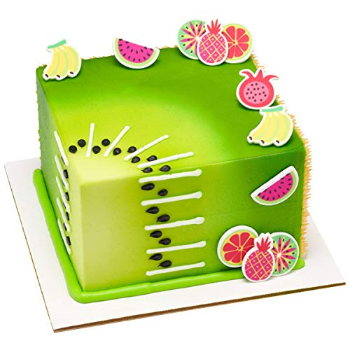 12ct. Vibrant Fruit Sweet Edible Cake Decorations