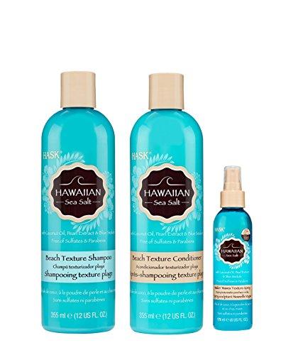 Hask Hawaiian Sea Salt WITH Loofah Pad - Pearl Shampoo Conditioner