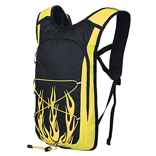 20L Large Capacity Outdoor Riding Backpack Waterproof Nylon Mountaineering Bag Leisure Travel Rucksack Men And Women Sports Daypack Removable Helmet Bag Air Diversion System Safety Reflective ()