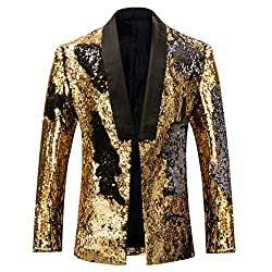 Men's Reversible Slim Fit Sequin Jacket
