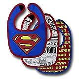DC Comics Boys Superman 3pk Bib