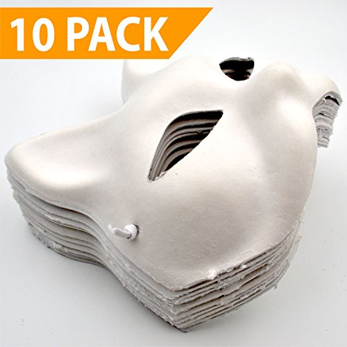 Cat Masks for Kids [10 PACK] - Paint your own - DIY Arts & Crafts for Children [Boys or Girls] - Great for a Halloween Fun -