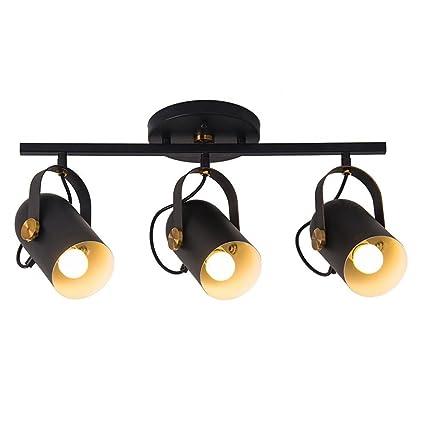 Lámpara de techo vintage industrial destacar Focos áticos ...