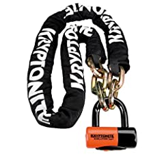 12mm six-sided, chain links made of 3T HARDENED MANGANESE STEEL for maximum strength. Durable, protective nylon cover with hook-n-loop fasteners to hold in place. Includes Evolution series 4 Disc Lock with 14mm MAX-PERFORMANCE STEEL SHACKLE. ...