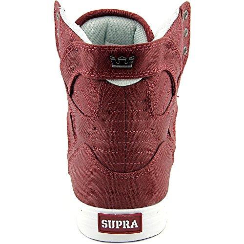 Supra Skytop S18091 - Zapatillas de ante para hombre Burgundy-White
