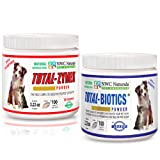 NWC Naturals Total-Digestion Mini-twin Pack Total-Zymes, Total-Biotics Each Jar Treats 100 Cups of Food, My Pet Supplies