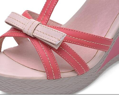 Laruise De Laruise De Rouge Moulantes Sandale Femmes Coin F8q8dW
