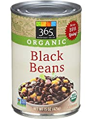 365 Everyday Value, Organic Black Beans, 15 oz