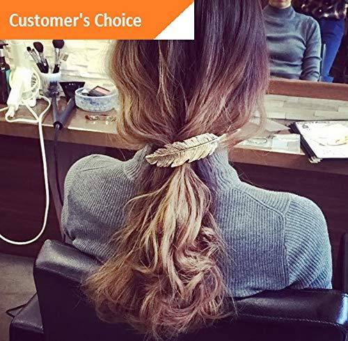 Werrox Retro Metal Leaf Spring Hair Clip Hairpin Barrette Woman Hair Fashion Accessory   Model HRPN - 2584 ()