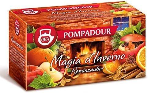 Pompadour 1913 Winter Magic Infusion Mezcla de frutas con sabor a manzana y canela - 1 x 20 Bolsitas de té (58 gramos)